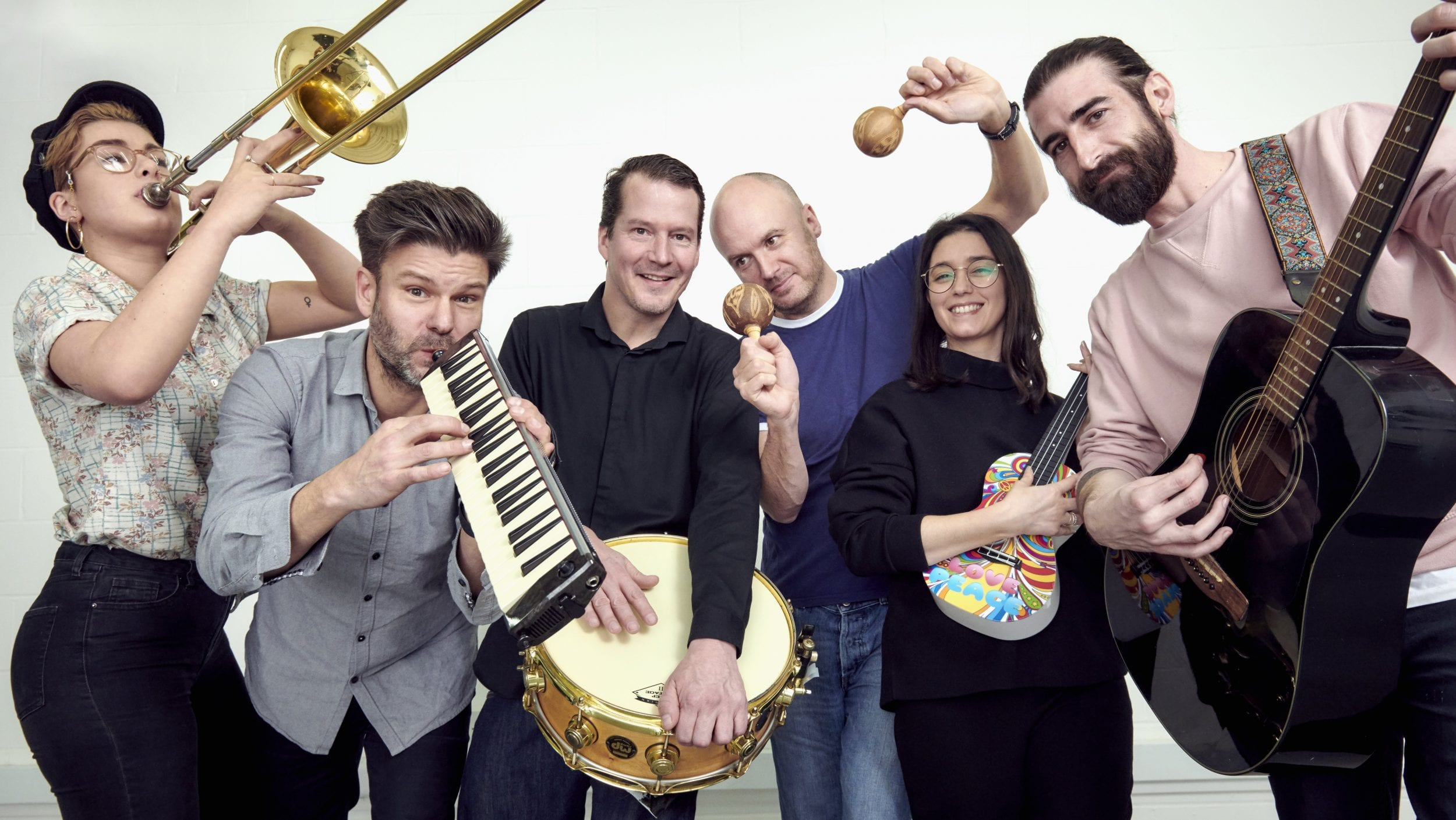 Cloud9Media group shot with instruments